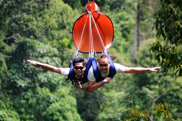 With my friend Jim at Lake Sebu Zipline