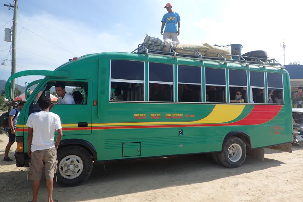 Ordinary bus bound for Poblacion, San Vicente
