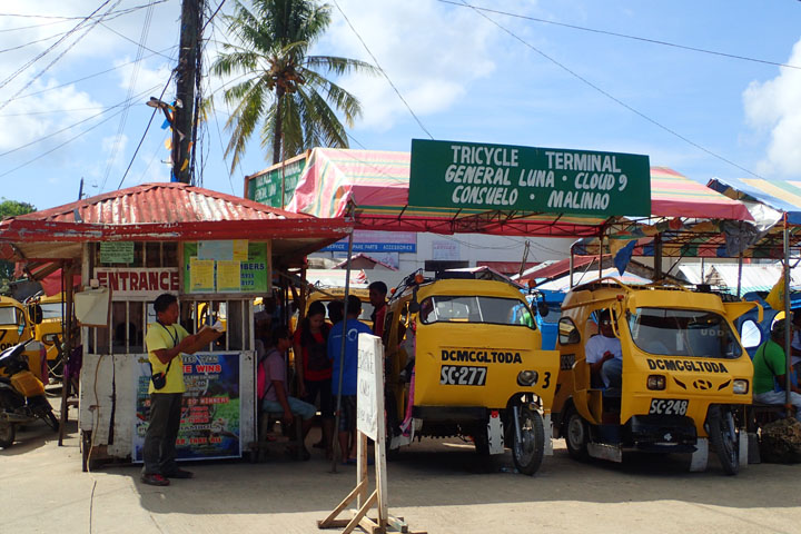 Tricycle terminal to General Luna