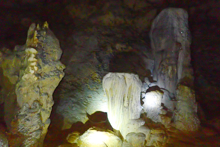 Some crystals/calcite inside Crystal Cave